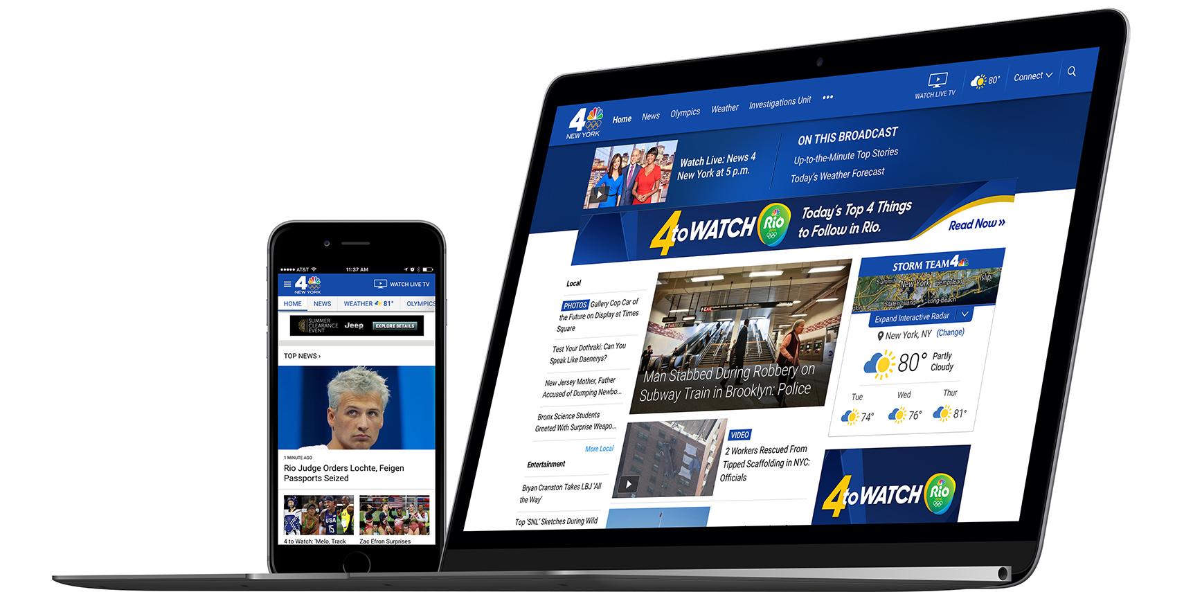 NBC & Telemundo Local Stations Website Redesign
